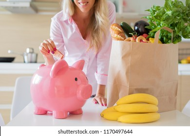 Woman saving money with smarter shopping