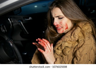 Woman scared about blood on hands after killing