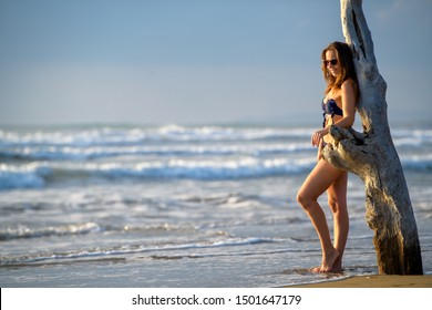 woman at the sea healthy and dynamic lifestyle