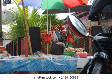 A woman sell the Takjil when ramadhan at Wates Street on May 2019