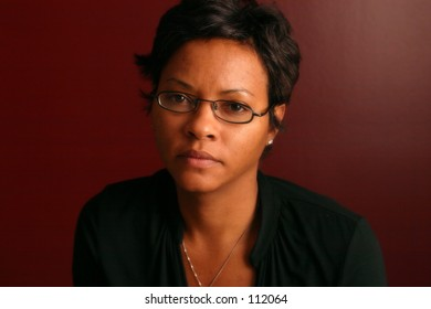 Woman serious portrait