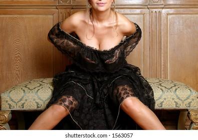 woman in sexy attitude