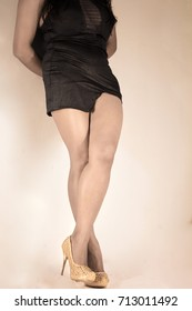 Woman sexy legs with high heels