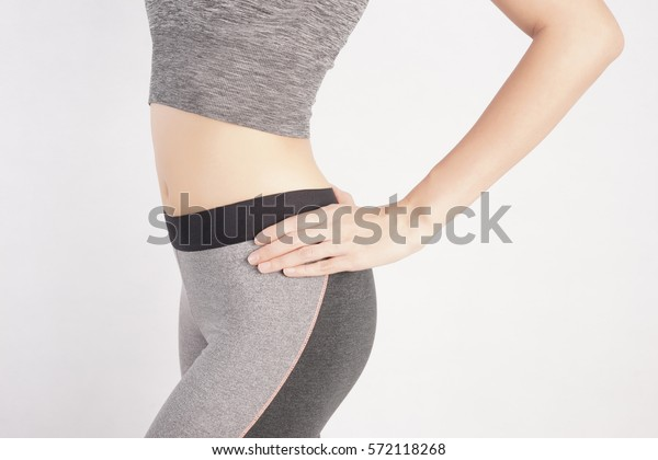 Woman Shape in Fitness Clothes