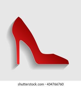 Woman shoe sign