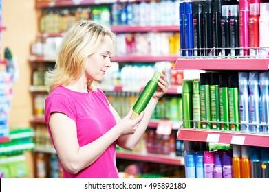 woman shopping air freshener or deodorant