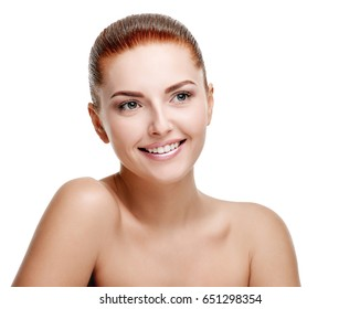 Woman showing shoulders