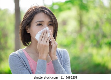 woman with sick and feel bad in winter