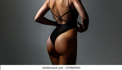 Woman silhouette sexy. Sex shop. Be Sexy. Sexy ass female in panties. Sexy curves girl butt without cellulite. Beautiful Slim Woman Body. Luxury ass. Huge buttocks