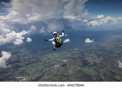 Woman in the sky, Sydney Skydivers, Australia