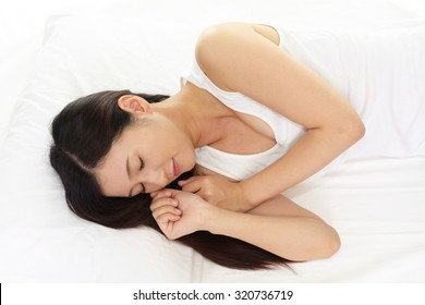 Woman is sleeping