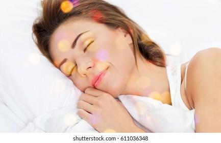 Woman sleeping.
