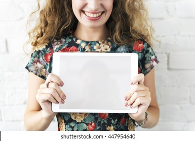 Woman Smiling Happiness Lifestyle Trendy Concept