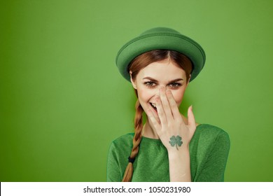 woman smiling, St. patrick's day