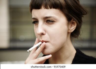 Words... super, teen girls smoking cigarettes