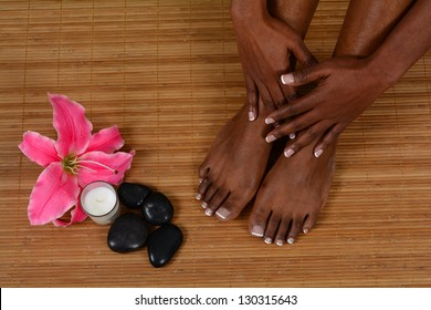 Woman spending the day at a spa