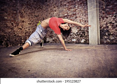 woman in sport dress dancing new fitness dance called