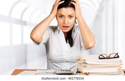 Woman stress.