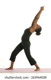 Woman Stretches