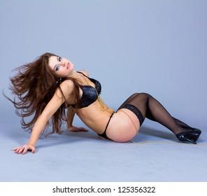 Woman Striptease Posing