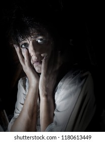 woman suffering from a severe depression/anxiety