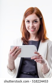 woman suggesting you can do shopping online with a digital tablet