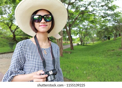 a woman in summer travel
