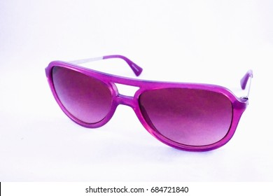 Woman sunglasses isolated on white background.