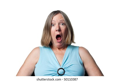 Woman is surprised to have won a prize