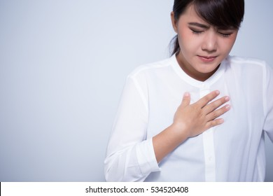 Woman with symptomatic chest pain