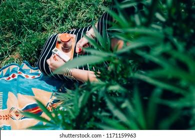 Woman taking a Cannabis Smoke Break