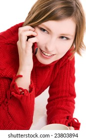 Woman talking by phone