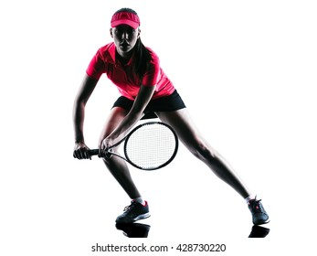 woman tennis player sadness silhouette