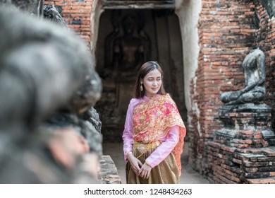 woman in thai suit