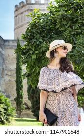 Woman tourist in Jerez de la Frontera