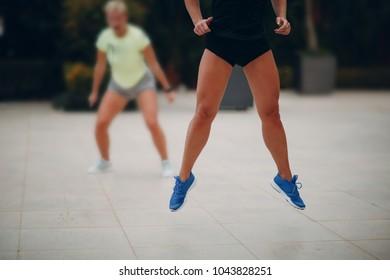 Woman trainig workout