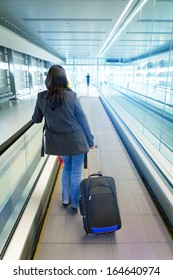 Woman traveling with luggage