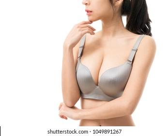 Woman in underwear / big boods body parts