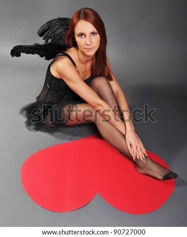 a0f45f24 Woman Underwear Suit Angel Heart Stock Photo (Edit Now) 90727000 ...