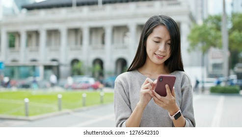 Woman use of mobile phone