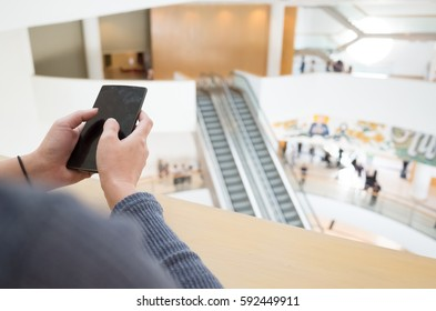 woman using cellphone, closeup image
