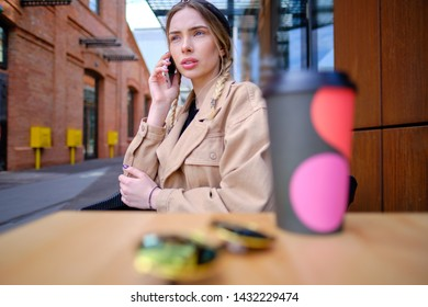 woman using smartphone in caffee shop. smart phone or mobile