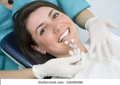 A Woman visiting her dentist