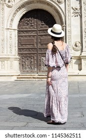 Woman visiting Seville