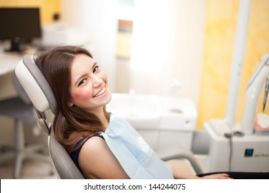Woman waiting for a dental exam