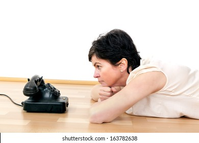Woman waiting on call