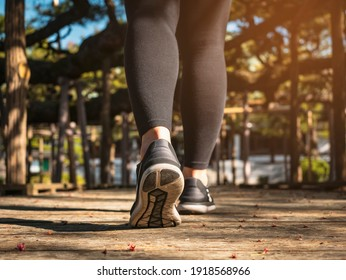 Woman walking Park outdoor Exercise Leisure Activity