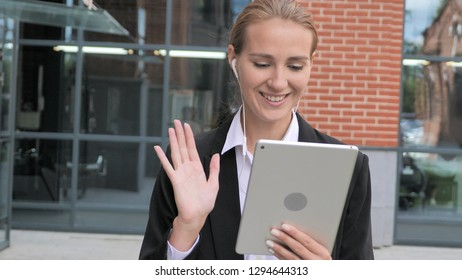 Woman Walking and Talking on Video Chat