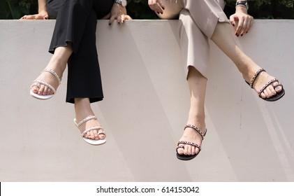 Woman wear sandal
