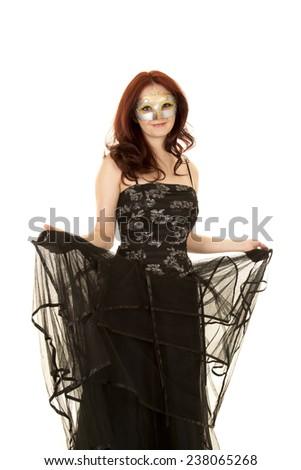 Mask and Black Long Formal Dresses